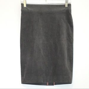 NWT Grey Corduroy Pencil Skirt Size 2